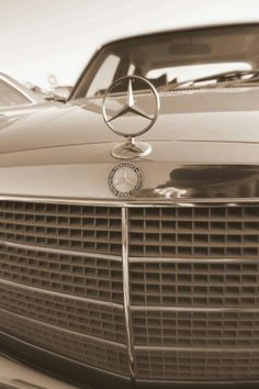 #Mercedes-Benz Grille and badge, #sepia.