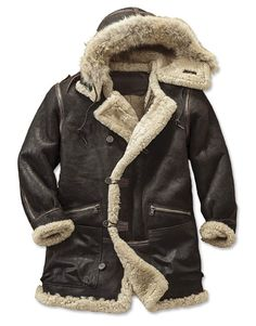 B-7 Aleutian Parka -- A WWII-era original, the B-7 Parka was regulation outerwear for pilots and ground crews stationed in the bitterly cold environs of Alaska.