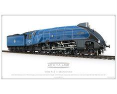 East Coast Main Line, Great Lakes Ships, Ferrari Racing, Old Wagons, National Railway Museum, Blue Garter, British Rail, Blue Color Schemes, Mallard