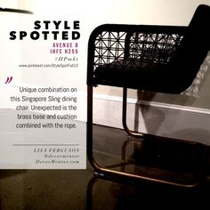 Avenue B Singapore Sling dining chair with brass base #HPmkt IHFC H255