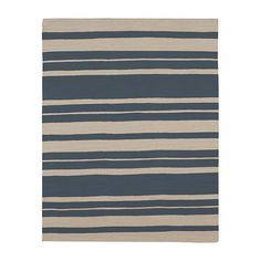 Hand-woven wool rug with a stripe motif.    Product: RugConstruction Material: WoolColor: Blue ...