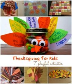 Thanksgiving for Kids ~ 7 Playful Activities.  oh what if everyone got to shake their own cream/churn into butter?