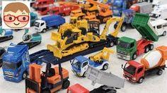 はたらくくるまのおもちゃ ダイヤペット ブーブー のりもの 重機 ショベルカー,ユンボ,ミキサー車,レッカー車,ダンプ,ゴミ収集車,バックホー - YouTube