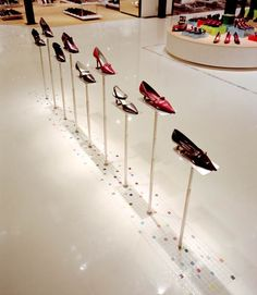 A shoe parade in Seibu department store, Japan.