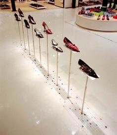 A shoe parade in Seibu department store, Japan.