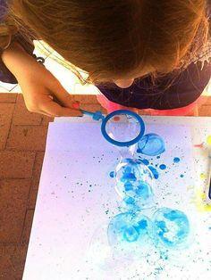 Arte com bolhas de sabão