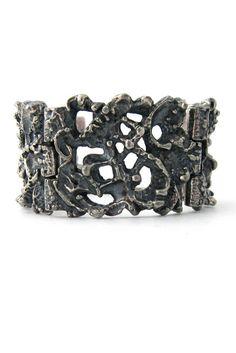 Robert Larin, Canada large panel link pewter bracelet
