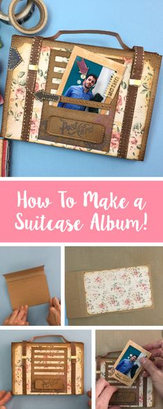 Show off your amazing photographs in a whole new way! This Suitcase Album allows your to store photos, but also show off your creativity! Feature your make with us using #mymakingstory - #Suitcase #Crafting #Craft #Craftinspo #Sizzix #Makersgonnamake #Handmade #Papercraft #Cardmakes #DIYcraft