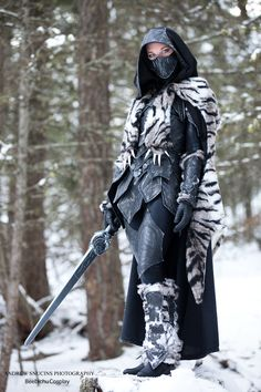 Nightingale Armor with a Sabre Cat Pelt by Beebichu.deviantart.com on @deviantART