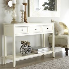 Ashington Console Table - Antique White | Pier 1 Imports