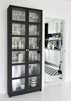 The Ikea Billy bookcase with doors. Great for small apartment living and versitile (bookshelves for small spaces ikea hacks) Billy Bookcase With Doors, Billy Bookcases, Ikea Billy Bookcase Hack, Home Organization Hacks, Home Interior, Apartment Interior, Furniture Makeover, Furniture Plans, Kids Furniture