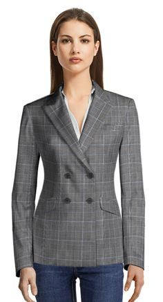 are you ready for Friday? Check out our Casual Friday Blazers collection! Check Blazer, Casual Blazer, Tailored Suits, Black Wool, Suits For Women, Wales, Double Breasted, Perfect Fit, Prince