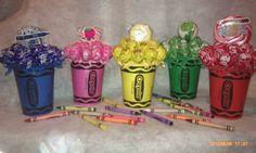 Crayola lollipop bouquet