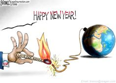 Setting off global fires for the next guy to put out will be Barack Obama's ultimate legacy as shown by cartoonist A.F. Branc