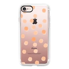 Peachy Boss Dots - Transparent/Clear Background - iPhone 7 Case,... ($35) ❤ liked on Polyvore featuring accessories, tech accessories, iphone case, iphone cases, iphone cover case, transparent iphone case, clear iphone cases and polka dot iphone case