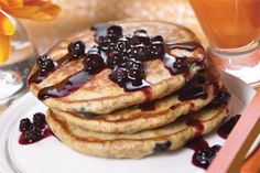 Blueberry Flaxseed Pancakes - Bring the taste of blueberries to your ...