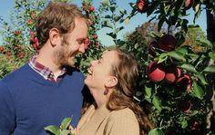 Apple Picking Engagement Photography