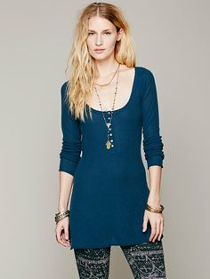 Free People Cashmere Henley, $148.00
