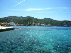 Crystal clear sea at Sant Elm, Mallorca, Spain