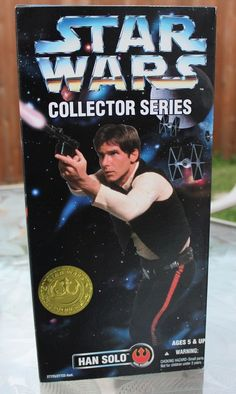 """Star Wars Han Solo 12"""" Figure Collector Series New Sealed MIB #kenner"""