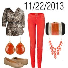 """Leopard & Coral: Friday, November 22, 2013"" by josiegirl77 on Polyvore"