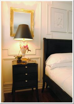 Paneling for dining room wall (and to hide AC closet)... Send Me A Picture: Your Nightstand - Emily A. Clark.