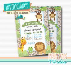 Animales de la selva, invitación animales imprimible