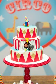 Circus themed birthday party via Kara's Party Ideas KarasPartyyIdeas.com #circusparty #bigtocircus #circuspartyideas (13)