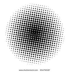 halftone in circle isolate