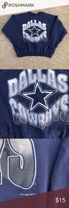 Vintage 1995 Dallas Cowboys Sweatshirt Vintage 1995 Dallas Cowboys  Crewneck. Simple graphic. 9  d3cf3870eae