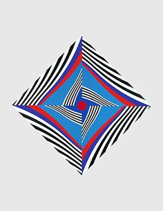 David Richard Gallery Francis  Celentano Diamond Wave in Blue and Red