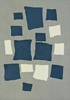 Jean Arp. Collage with Squares Arranged According to the Laws of Chance, 1916-1917.