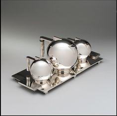 Art Deco Silver Plate Tea Set by Paul A. Lobel, c. 1934