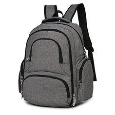 hotterbags grey backpack diaper bag
