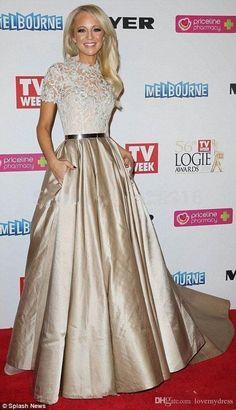 Oscars Evening Dresses Celebrite Dress A Line Prom Dress Floor Length Lace Jewle Neck Short Sleeve Custom Made Formal Wear Iulslion