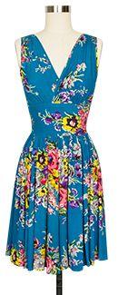 Trashy Diva Doris Middy Dress sandy1mid-turquoisefloral