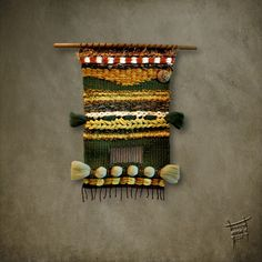 Telares artelar-d: NUEVO TELAR MURAL Weaving Wall Hanging, Weaving Art, Hand Weaving, Textiles, Aboriginal Art, Lana, Crochet Projects, Hair Accessories, Beaded Bracelets