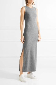 Theory - Dorada Cashmere Maxi Dress - Gray - x small