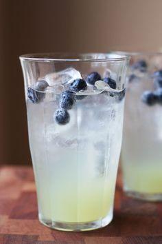 """Frostbite"" - Sierra Mist, blue curacao, coconut vodka, pineapple juice, mint, and blueberries..."