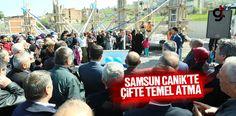Canik'te Hanım Konağı, Kur'an Kursu Binası ve Cami Temelleri Atıldı
