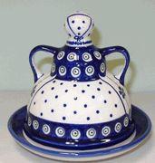 Polish Pottery Cheese Lady...LOVE!