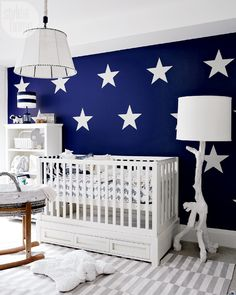 House tour: Nursery with star wall decals {PHOTO: Michael Graydon}
