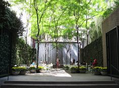 I am going to keep pressing for that little back area to be something special.  Pocket Park - Paley Park in New York City