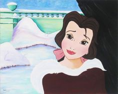 Belle's in Love | Disney Art. 16x20. Paige O'Hara. Limited Edition Hand-Embellished Giclee on Canvas. (Unknown).
