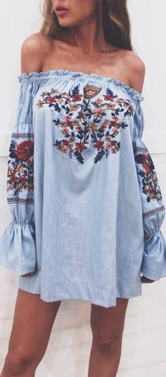 boho style addiction blue dress