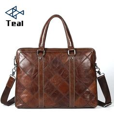 Cheap leather briefcase, Buy Quality leather business briefcase directly from China brand briefcase Suppliers: Men Business Bags Genuine Leather Briefcases Bag Luxury Brands Desinger Handbag Messenger Bag Male Bags Vintage Casual Tote New Mens Work Bags, Leather Briefcase, Luxury Handbags, Luxury Branding, Messenger Bag, Satchel, Briefcases, Ebay, Vintage