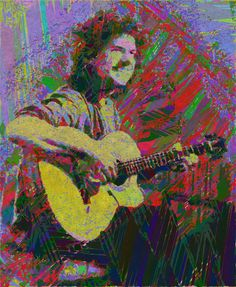 Pat Metheny my digital artwork from picture