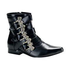 fb77e568b6d BROGUE-07 Black BAT Buckle Boots