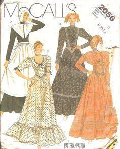 Vintage Sewing Pattern Colonial Pilgrim Dress by TenderLane, $8.00