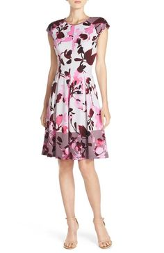Maggy London Mixed Print Scuba Fit & Flare Dress available at Bold Prints, Mixing Prints, Pretty Dresses, Dresses For Work, Women's Dresses, Scuba Fabric, Cheap Clothes, Fit Flare Dress, Nordstrom Dresses